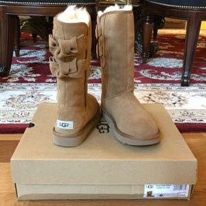 NWB W ALLEGRA BOW II Bow Long Boots size 6